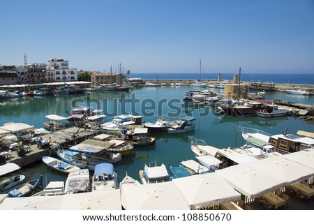 The harbour of Kyrenia in Cyprus