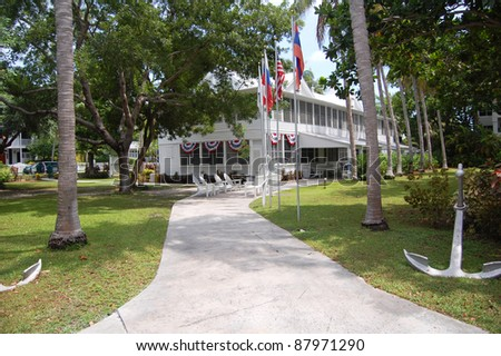 the harry truman little white house in key west, florida - stock photo