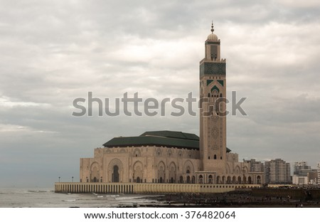 The Hassan II Mosque in Casablanca, Morocco