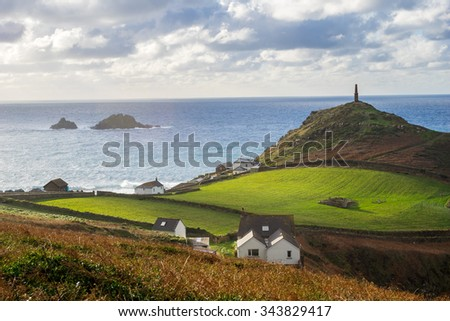 The headland at Cape Cornwall part of the Cornwall and West Devon Mining Landscape World Heritage Site, near St Just England UK Europe