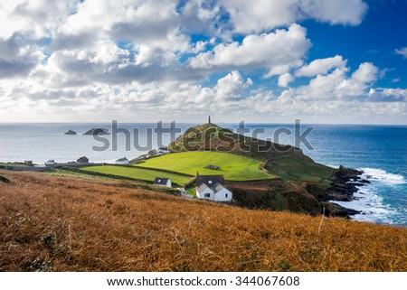 The headland at Cape Cornwall the site of a former Tin Mine near St Just England UK Europe