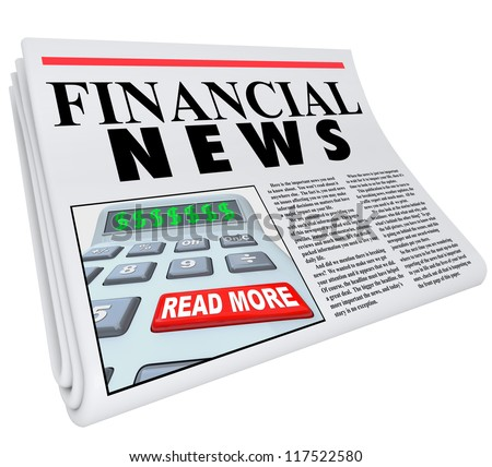 The headline Financial News on a newspaper offering reporting and journalism on finance and economic matters - stock photo