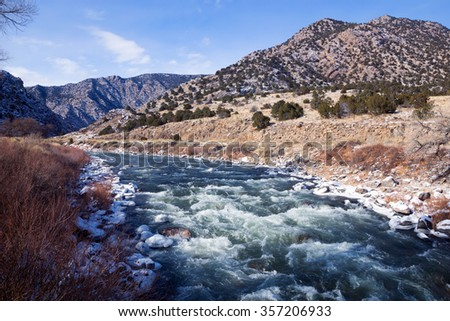 The headwaters of the Arkansas river, Colorado
