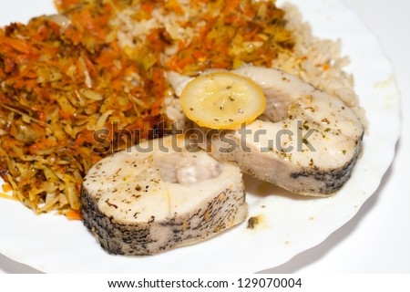 Fish and rice stock images royalty free images vectors for Fish and rice diet