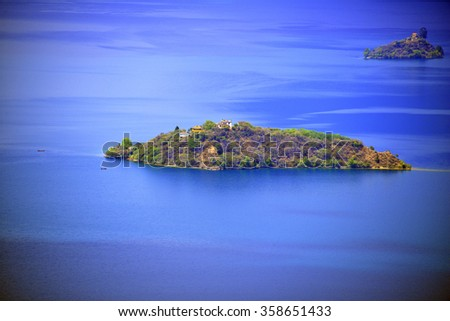 The Heiwawu Island of Lugu Lake