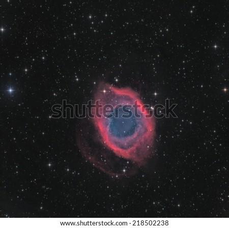 The Helix Nebula in Aquarius - stock photo