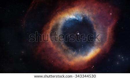 The Helix Nebula in deep space. Elements of this image furnished by NASA - stock photo