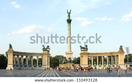 The Heroes square, Budapest