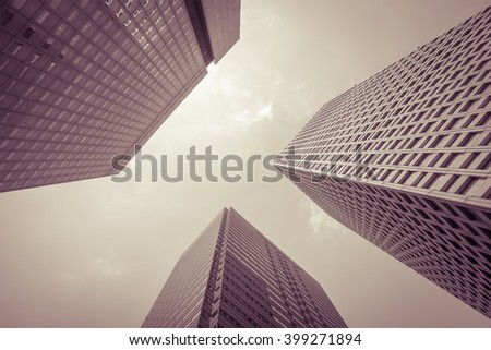 The high - rise buildings at business area