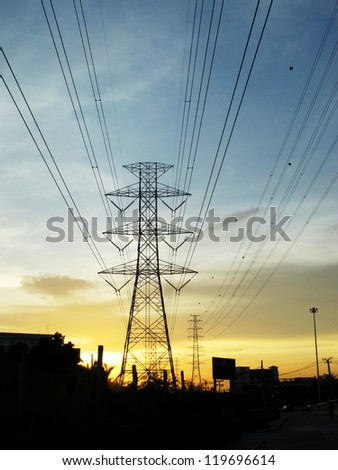 The high voltage electric post.