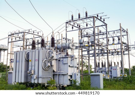 The high voltage electric transformer