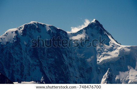 The highest mountain of Siberia