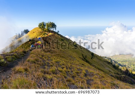 the highgest campsite on rinjani mount indonesia
