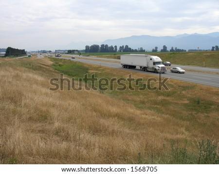 The Highway - stock photo