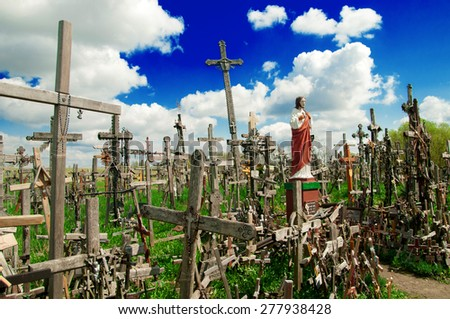 The Hill of Crosses (Kryziu kalnas), a famous site of pilgrimage in northern Lithuania.