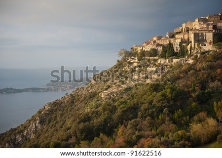 The hilltown village of Eze in southern France
