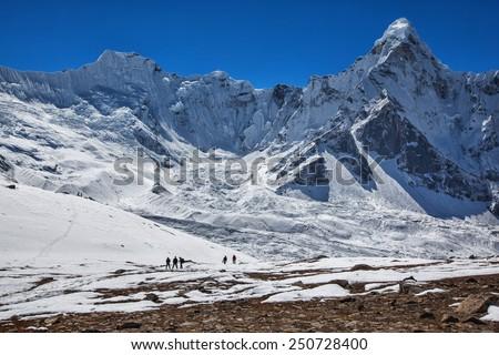 The Himalayan mountains - stock photo