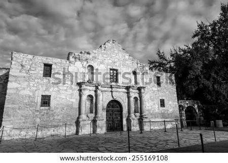 The Historic Alamo at, San Antonio, Texas.  - stock photo