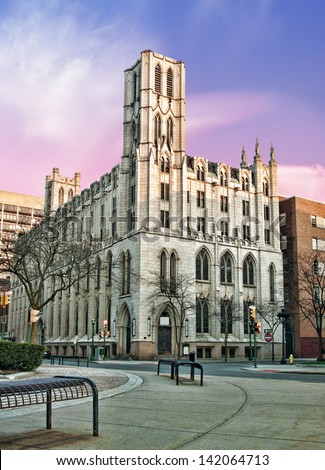 the historic and beautiful mizpah tower, located in syracuse,new york