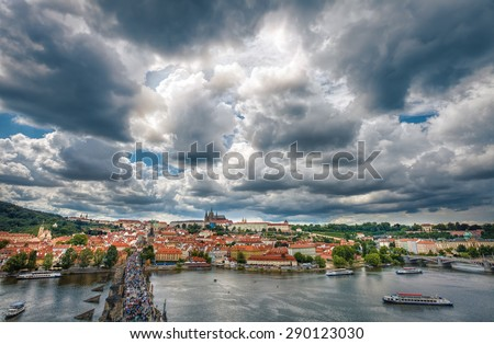 The historic center of Prague, ancient architecture, and cultural heritage - stock photo