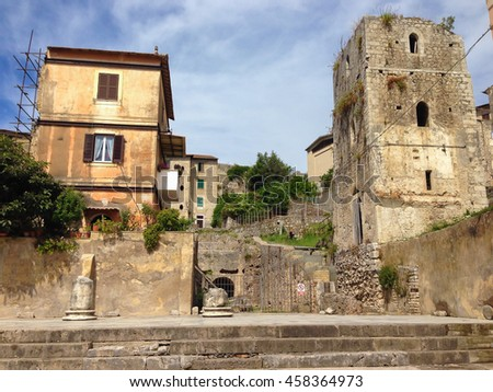 The historic center of Terracina in Lazio