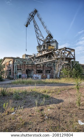 The historic crane shipyard in Gdansk, Poland