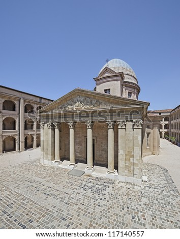"The historic hospital ""Vieille Charite"" of Marseille in South France"