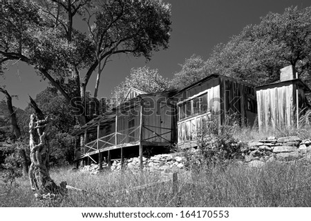 The historic James House, built by John James in 1911 along Ramsey Creek, located in The Nature Conservancy's Ramsey Canyon Preserve in the Huachuca Mountains of southeastern Arizona.
