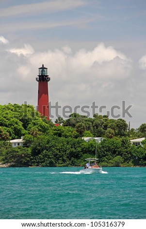 The Historic Jupiter Inlet Lighthouse in South Florida