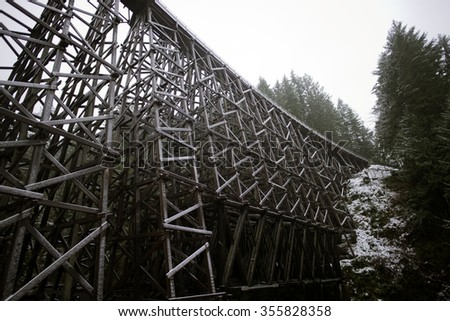 The Historic Kinsol Trestle 1 also known as the Koksilah River Trestle, is a wooden railway trestle located on Vancouver Island north of Shawnigan Lake in the Canadian Province of British Columbia.