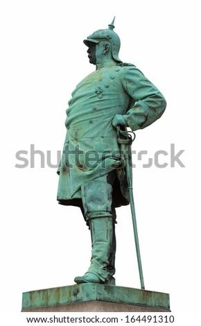 "The historic memorial of the statesman ""Bismarck"". Dusseldorf, Germany - stock photo"