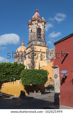 The historic Mexican city of San Miguel de Allende - stock photo