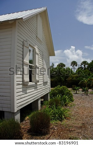 The historic Tindall Home in Jupiter, Florida - stock photo