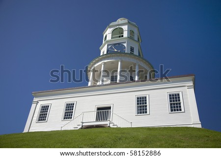 The historic town clock at the Halifax Citadel in Halifax, Nova Scotia. - stock photo