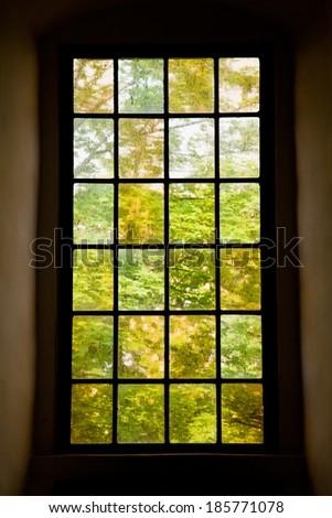 the historic window in the Leuchtenburg - stock photo