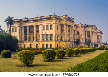 The historical famous Hazarduari Palace museum in Murshidabad, West Bengal, India.