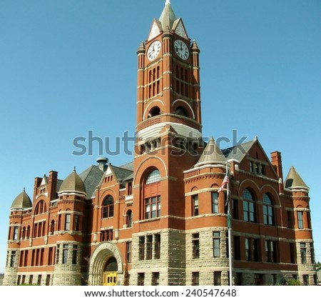 The historical Jefferson County courthouse in Port Townsend, Washington - stock photo