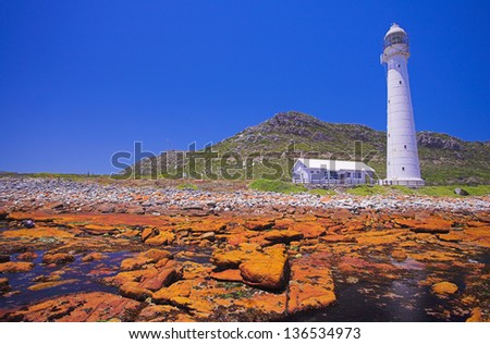 The Historical Slangkop Lighthouse at Kommetjie in the Western Cape, South Africa