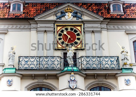 The historical Town Hall in Lueneburg, Lower Saxony, Germany