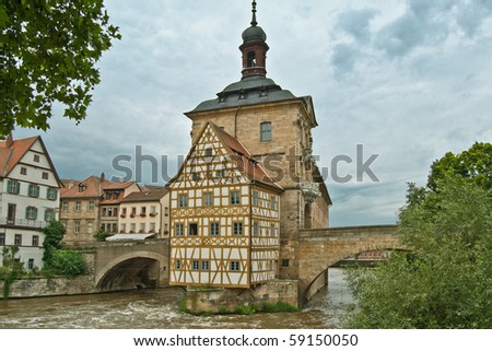 The historical town hall of Bamberg, Germany