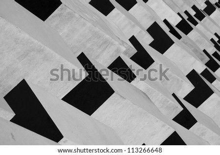 The Holocaost monument in Berlin, Germany - stock photo