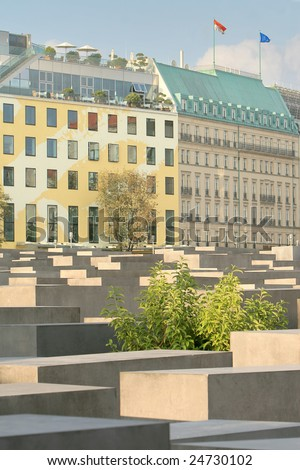 The Holocaust memorial monument in Berlin, Germany - stock photo