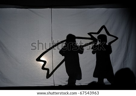 The Holy Bethleem Star, Holy Gospel scene made with shadows and light - stock photo