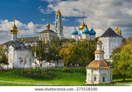 The Holy Trinity-St. Sergius Lavra, Sergiev Posad, Moscow district, Russia. - stock photo
