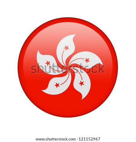 The Hong Kong flag in the form of a glossy icon.