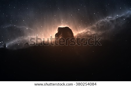 The Horsehead Nebula. Elements of this image furnished by NASA - stock photo