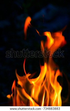 Hot flame fire front dark cool stock photo 734883883 shutterstock the hot flame of the fire in front of the dark and cool backgrounds voltagebd Gallery