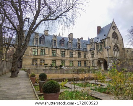 The Hotel de Cluny in Paris France