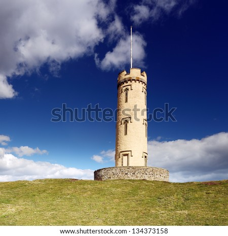 The House of Binns tower built in 1829 and restored 2002 is situated on Binns hill, West Lothian, Scotland.