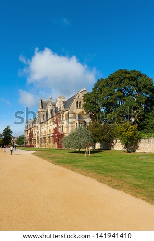 The house of Christ Church College, Oxford University, England